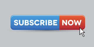 Subscribe now button. Vector blue Stock Images