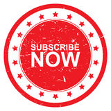 Subscribe now button Stock Images