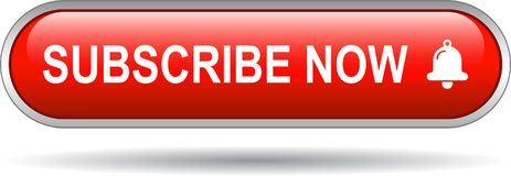 Free Subscribe Now Icon Web Button Red Stock Photography - 118124692