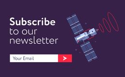 Email-subscribe-form copy. Subscribe Now For Our Newsletter Flat Style Vector Illustration UI UX Design with Text Box and Subscribe Button Template Royalty Free Stock Photos