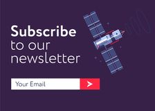 Email-subscribe-form copy. Subscribe Now For Our Newsletter Flat Style Vector Illustration UI UX Design with Text Box and Subscribe Button Template Royalty Free Stock Photography