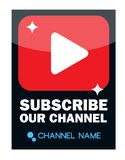 Subscribe Our Channel Vector Graphic. Design Royalty Free Stock Images