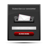 Subscribe our newsletter - website form Royalty Free Stock Images