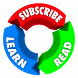 Subscribe Read Learn Words Circle Arrow Diagram Royalty Free Stock Images
