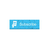 Subscribe rectangle button Royalty Free Stock Photography