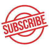 Subscribe rubber stamp Royalty Free Stock Photos