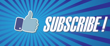 Subscribe sign. Stock Photography