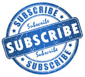 Subscribe stamp Royalty Free Stock Photos