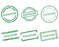 Subscribe stamps Stock Photography