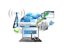 Subscribe and stay connected online concept vector illustration