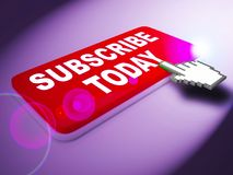 Subscribe Today Represents To Sign Up 3d Rendering. Subscribe Today Key Represents To Sign Up 3d Rendering Royalty Free Stock Images