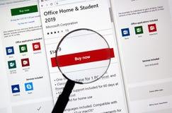 Subscribtionkort för Microsoft Office 365 royaltyfri bild