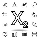 subscript text icon. Can be used for web, logo, mobile app, UI, UX