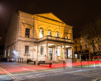 Subscription Rooms by night A. ENGLAND, STROUD - 02 NOV 2015: Subscription Rooms by night A royalty free stock photography