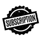Subscription rubber stamp Stock Image