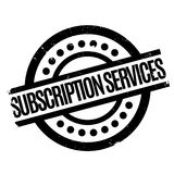 Subscription Services rubber stamp Stock Photography