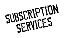 Subscription Services rubber stamp Royalty Free Stock Photo