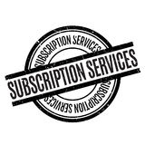 Subscription Services rubber stamp Stock Photo