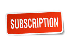 Subscription square sticker. On white Stock Photography