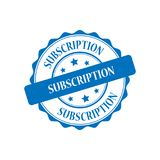 Subscription stamp illustration. Subscription blue stamp seal illustration design Royalty Free Stock Photos