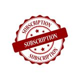 Subscription stamp illustration. Subscription red stamp seal illustration design Royalty Free Stock Photo