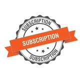 Subscription stamp illustration. Subscription stamp seal illustration design Royalty Free Stock Photo