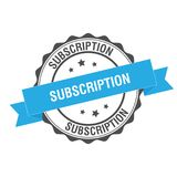 Subscription stamp illustration. Subscription stamp seal illustration design Stock Images