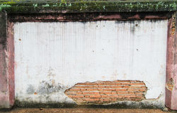 Subside old wall Royalty Free Stock Image