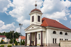 Subsidiary church of St. Maximilian Maria Kolbe. Kotlarnia, Poland - August 8, 2015: Church was built in 1815 on the site of a wooden church originating from Stock Images