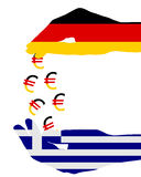 Subsidies for greece. Detailed and colorful illustration of subsidies for greece Stock Photography