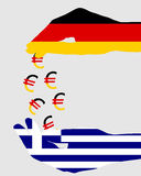 Subsidies for greece. Detailed and colorful illustration of subsidies for greece Royalty Free Stock Photos