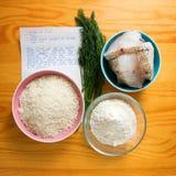 Substâncias cruas do alimento Fotos de Stock