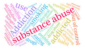 Substance Abuse Word Cloud Royalty Free Stock Photo