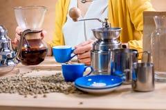 Substance alternative de café sur la table en bois Image libre de droits