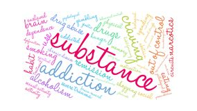 Substance Animated Word Cloud stock footage