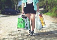 Substance de achat pendant l'été Images stock