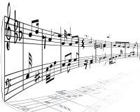 substance de notes musicales Images libres de droits