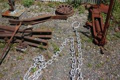 Substance et chaîne rouillées de travail Photo libre de droits