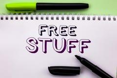 Substance gratuite de main d'apparence conceptuelle d'écriture La présentation de photo d'affaires complémentaire exempt d'impayé images stock