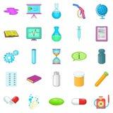 Substance icons set, cartoon style Stock Photo