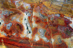 Substances de quartz et pierres de minerais Photo libre de droits