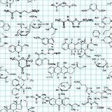 substanci chemicznej bezszwowy deseniowy Zdjęcia Royalty Free