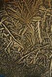 substancja chemiczna krystalizująca brown obrazy stock