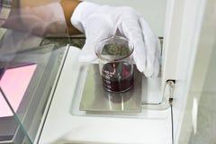 Substancja chemiczna test w laboratorium Obraz Stock