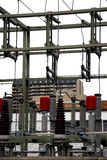 Substation. Electrical sub power station in urban setting Royalty Free Stock Photos
