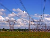 Substation. Electrical substation on the skyline - amazonia - Brazil Royalty Free Stock Photo
