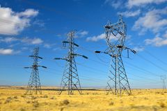 Substation, electric, power, high, voltage Stock Image