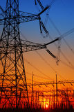 Substation silhouette Stock Photo