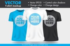 Substitua o projeto com seu projeto, mude o molde da camisa do modelo T das cores ilustração do vetor