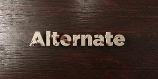 A substituição - título de madeira sujo no bordo - 3D rendeu a imagem conservada em estoque livre dos direitos ilustração stock